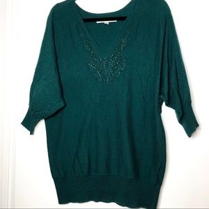 LC Lauren Conrad Sz XL green sweater